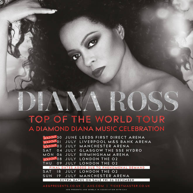 Diana Ross is touring the UK in 2020