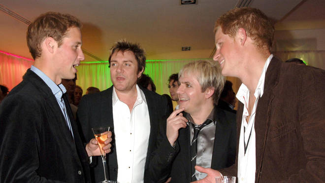 Duran Duran with Prince William and Prince Harry at the Concert for Diana in 2007
