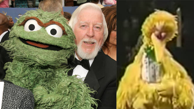 Caroll Spinney played Oscar the Grouch and Big Bird on Sesame Street
