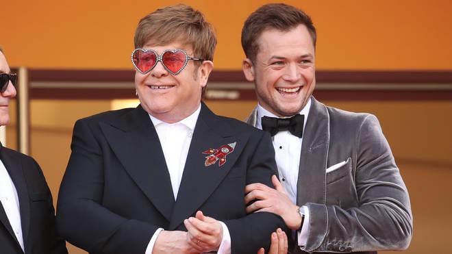 Taron Egerton and Elton John