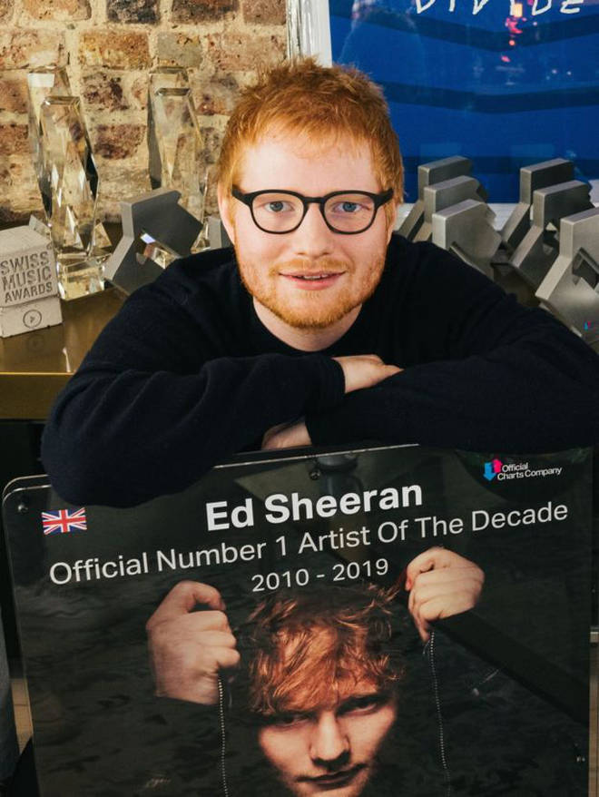 Ed Sheeran is named Artist of the Decade