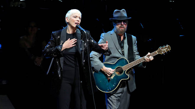 Eurythmics perform at The Rainforest Fund 30th Anniversary Benefit in New York City
