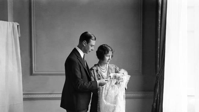 Queen Elizabeth christening