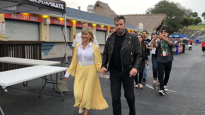 John Travolta and Olivia Newton-John reunite