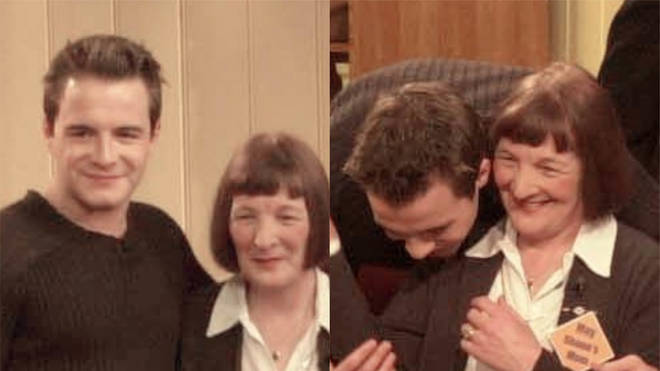 Shane Filan and his mother Mae back in 2000