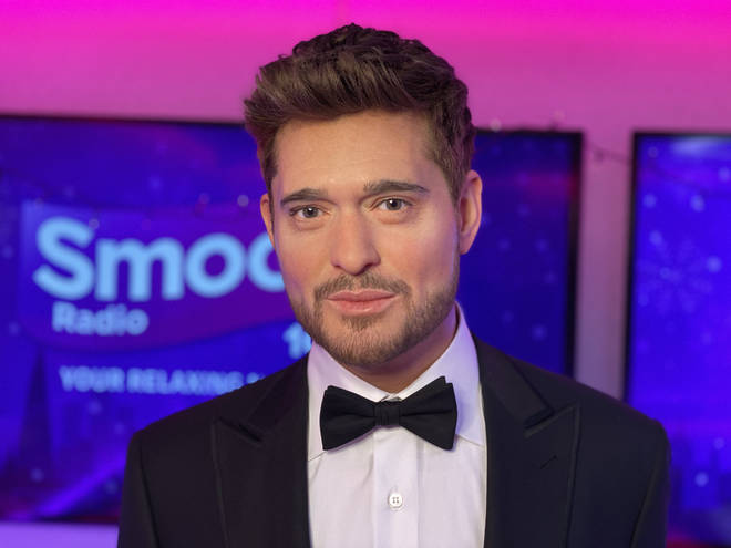 Michael Bublé's new Madame Tussauds figure visits Smooth Radio