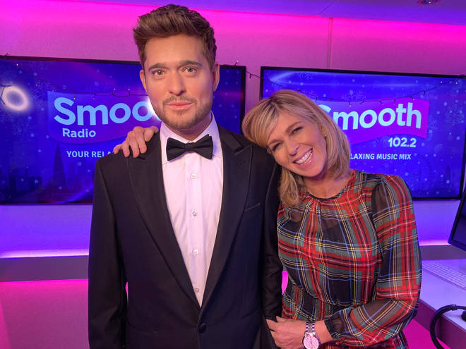 Michael Bublé's Madame Tussauds figure with Kate Garraway