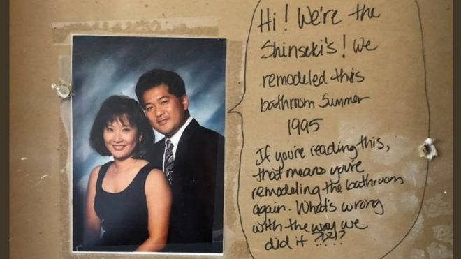 Couple find hidden message