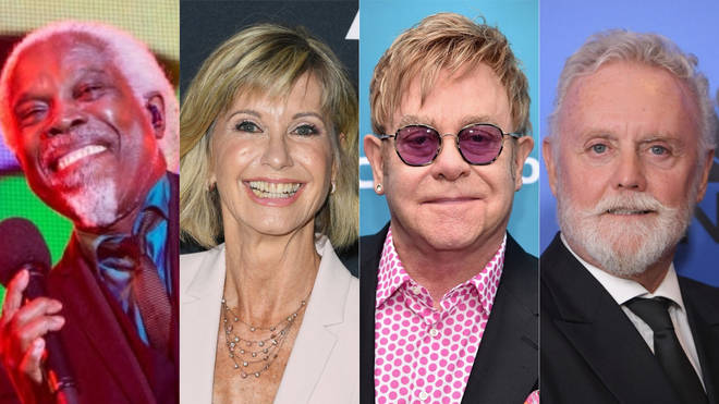 Billy Ocean, Olivia Newton-John, Elton John and Roger Taylor