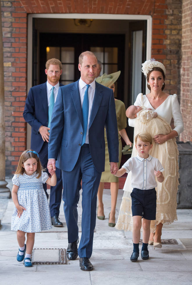 The Duke and Duchess of Cambridge with their family