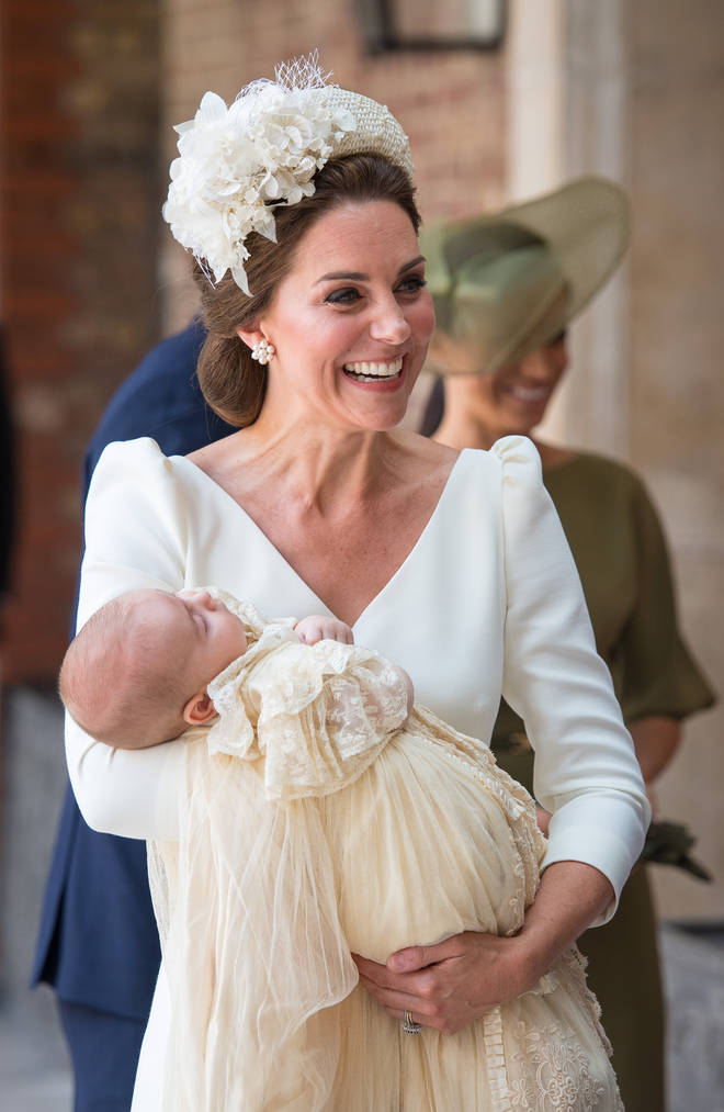 The Duchess of Cambridge with Prince Louis