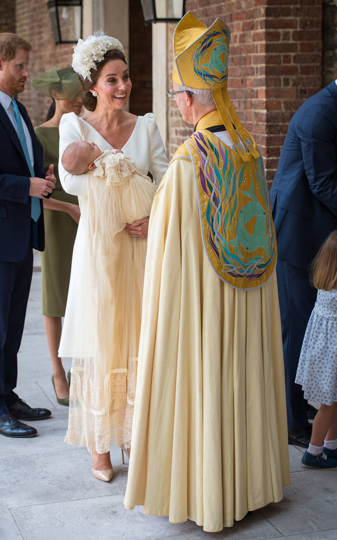 The Duchess of Cambridge speaks to the Archbishop of Canterbury