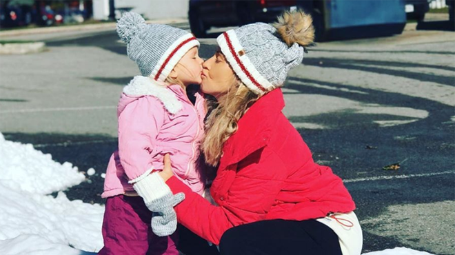 Brianne Delcourt has a three-year-old daughter