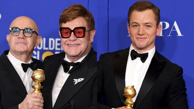 Elton John, Bernie Taupin and Taron Egerton won Golden Globes for Rocketman