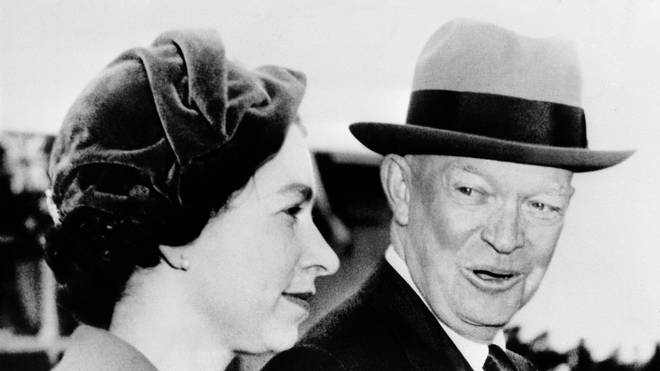 The Queen and Dwight Eisenhower