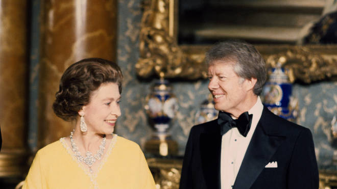 The Queen and Jimmy Carter