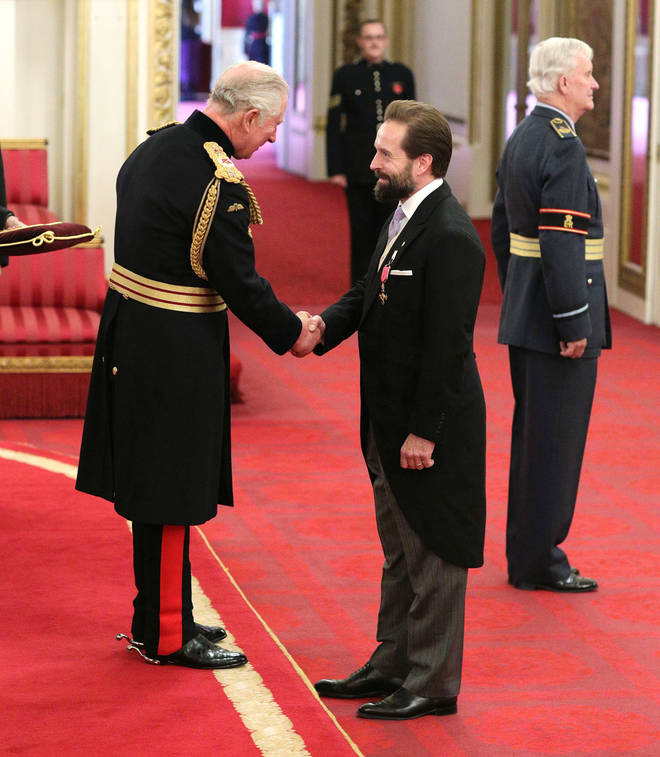 Alfie Boe being made an OBE by the Prince of Wales