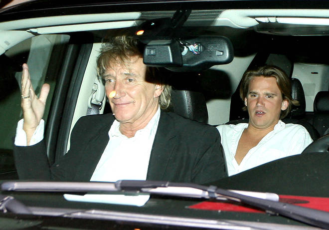 Sir Rod Stewart and his son Sean in 2009
