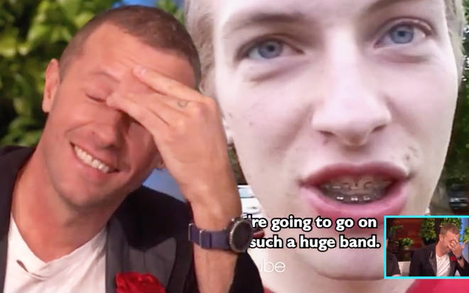 Coldplay's Chris Martin surprised with old footage by Ellen DeGeneres