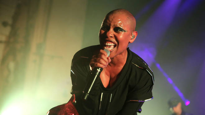 Skin performing with Skunk Anansie in 2019