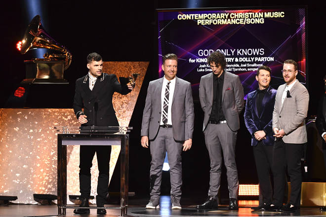 for KING & COUNTRY collect a Grammy Award for their collaboration with Dolly Parton