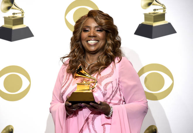 Gloria Gaynor with her Grammy Award at the 2020 ceremony