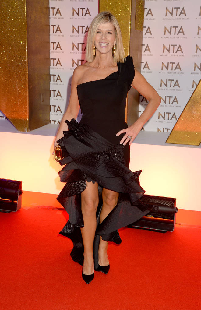 Smooth Radio presenter Kate Garraway on the National Television Awards 2020 red carpet