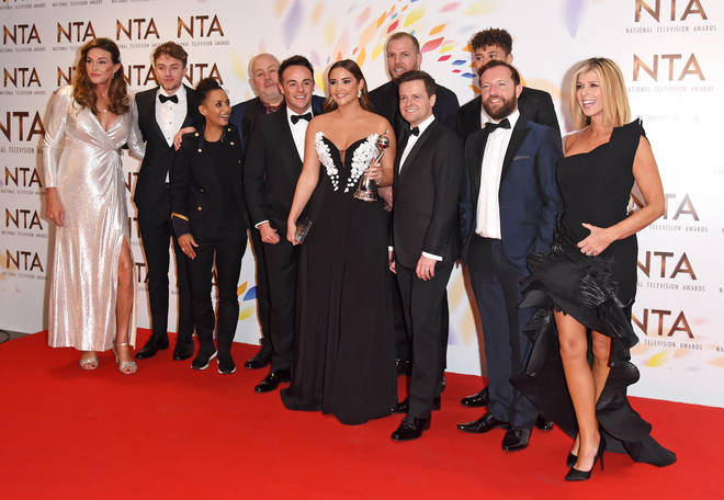 Kate Garraway with Ant and Dec and her fellow I'm A Celebrity campmates at the NTAs