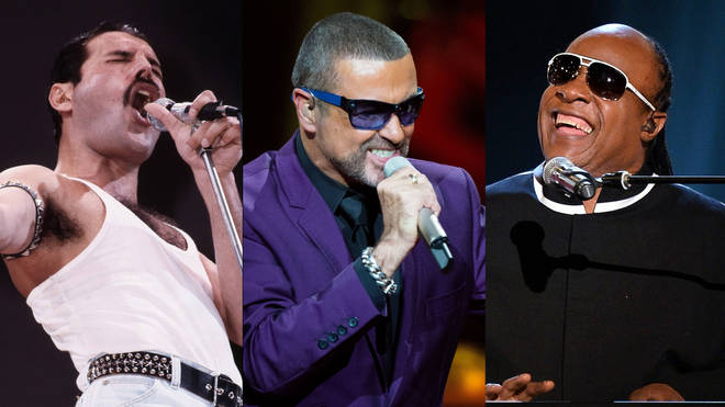 Freddie Mercury, George Michael and Stevie Wonder