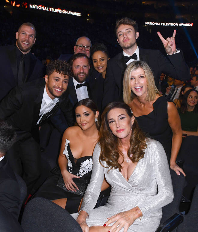 Kate Garraway with her fellow I'm A Celebrity 2019 campmates at the NTAs