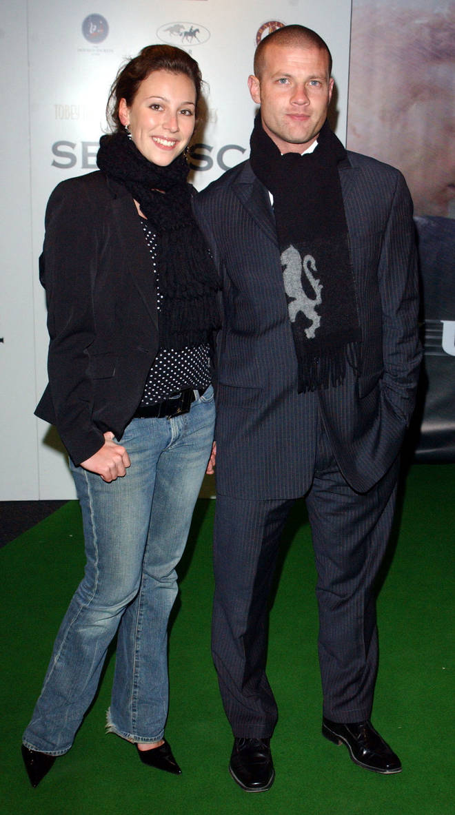 Dee Koppang O'Leary and Dermot O'Leary in 2003