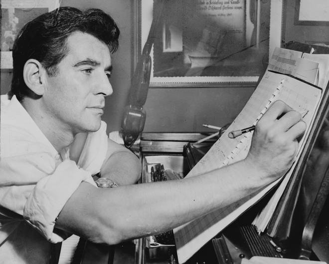 Conductor and composer Leonard Bernstein