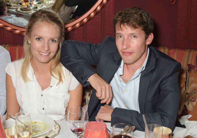 James Blunt and wife Sofia Wellesley