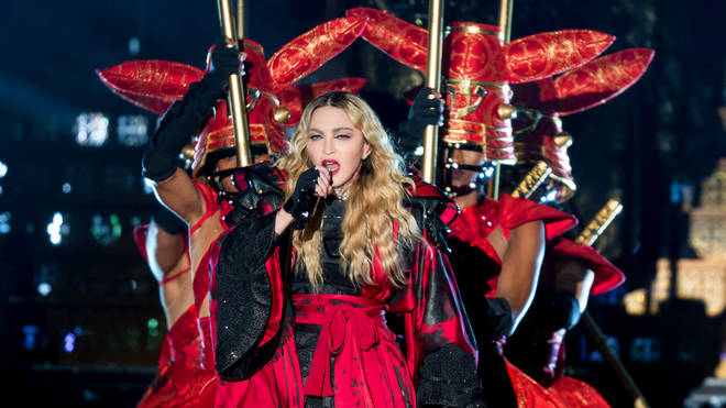 Madonna performing in 2015