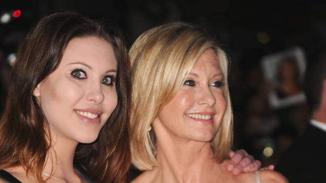 Olivia Newton John and Chloe Rose