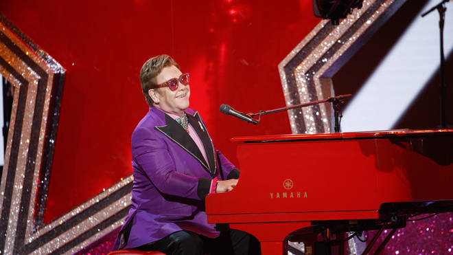 Elton John performs at the Oscars
