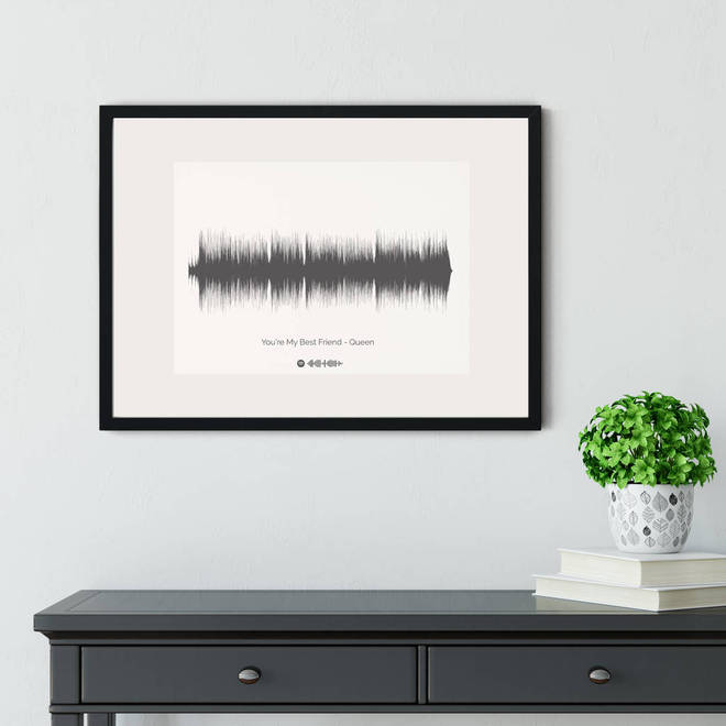 Personalised sound wave of your favourite song