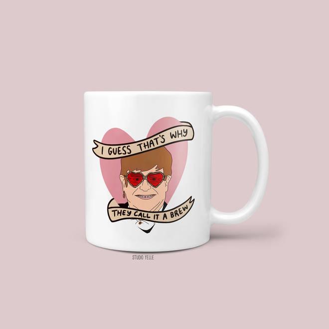Novelty Elton John mug