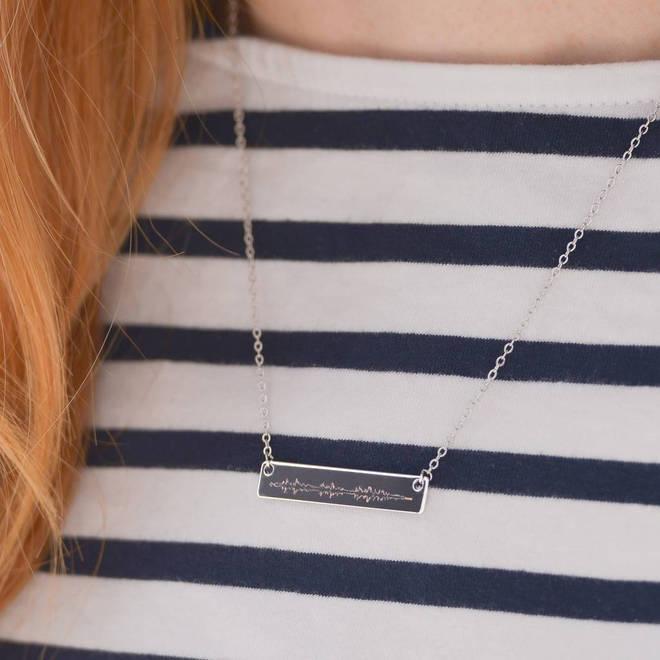Bespoke sound wave necklace
