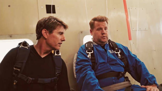 James Corden and Tom Cruise
