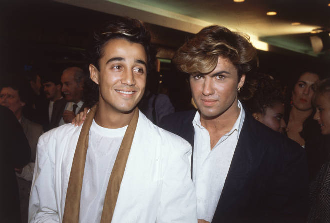 Andros was by George Michael's side throughout his time in Wham! and the beginnings of his solo career (pictured: George Michael and Andrew Ridgeley