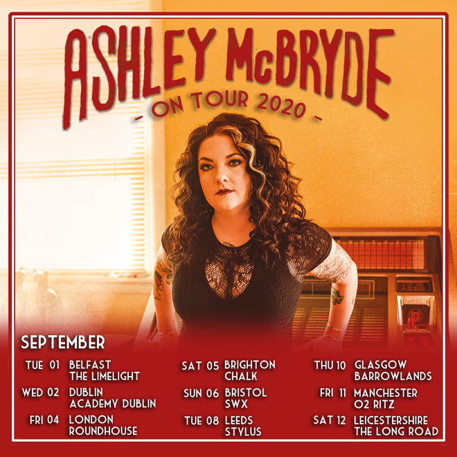 Ashley McBryde's UK and Ireland tour dates September 2020