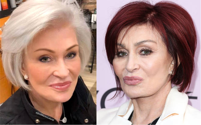 Sharon Osbourne debuts radical hair colour change from red to white after 18 years