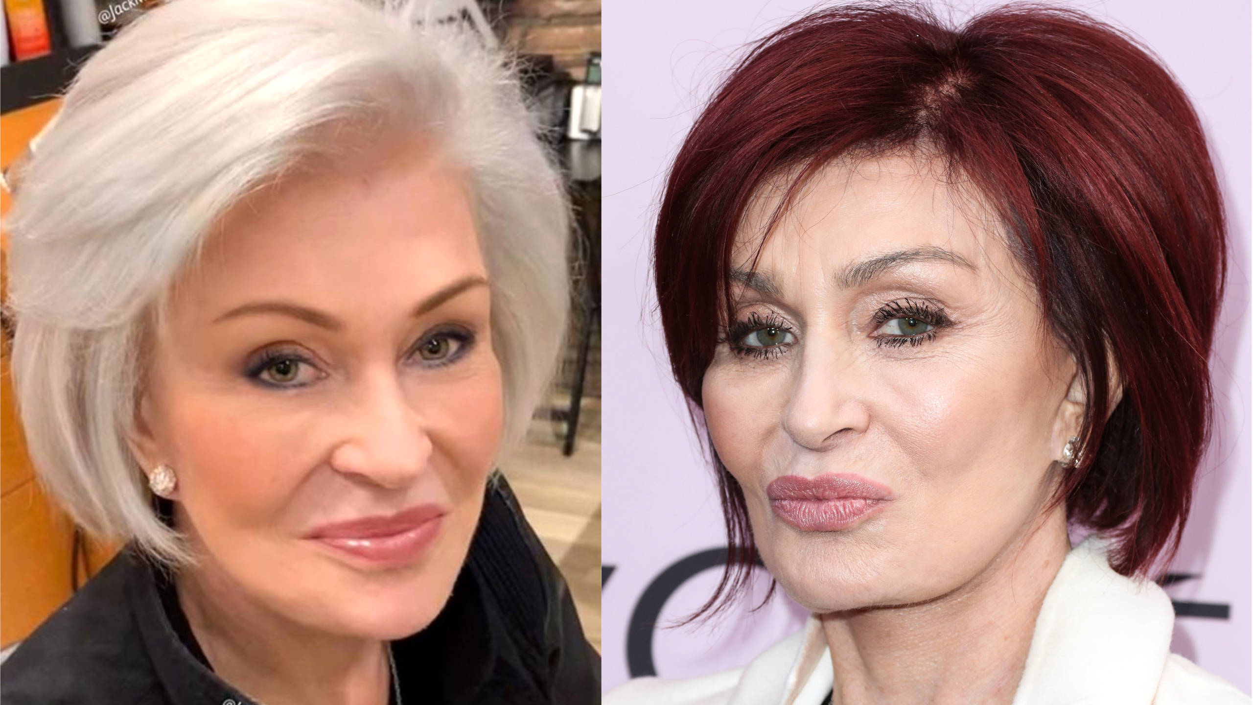 Sharon Osbourne Debuts Radical Hair Colour Change From Red To White After 18 Years Smooth