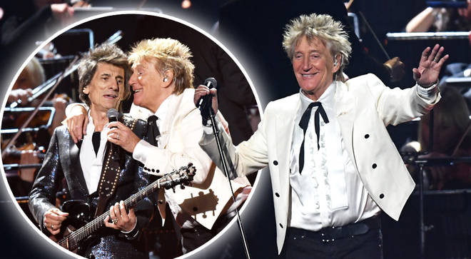 Rod Stewart closes the BRITs 2020 and reunites with Faces' members on stage
