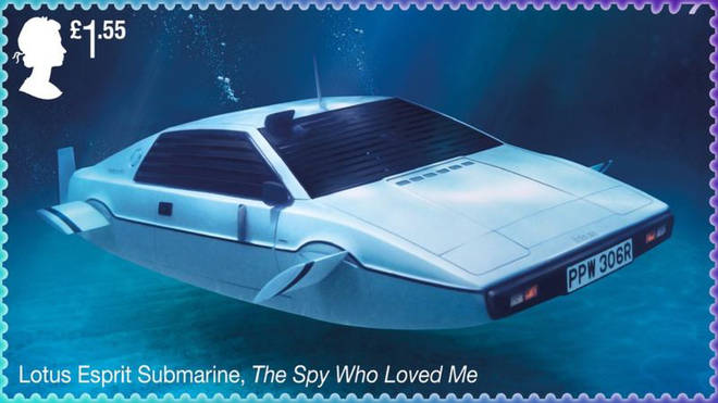 James Bond stamps: The Spy Who Loved Me