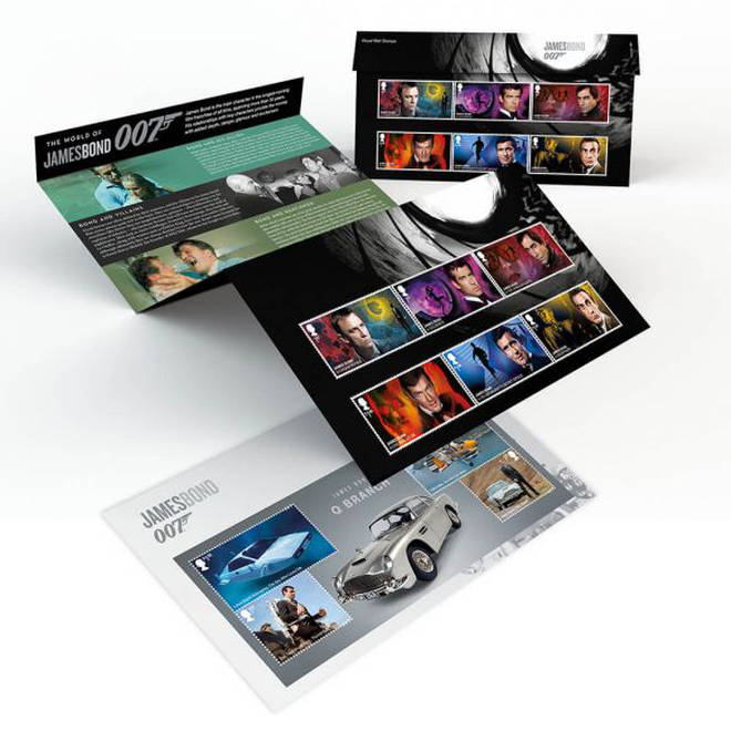 The James Bond stamp collection