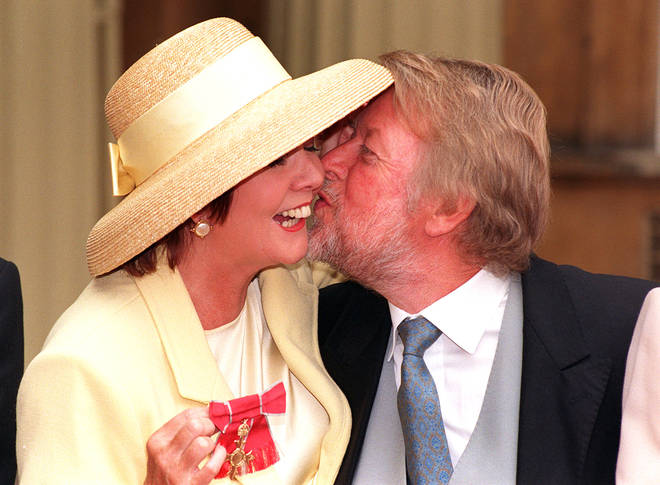 Cilla Black with her husband Bobby Willis