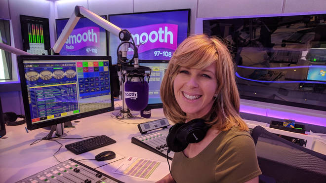 Kate Garraway in the Smooth studios