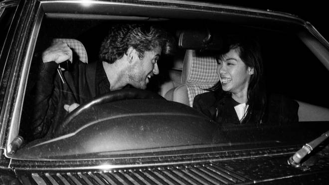 George Michael and Kathy pictured in London in 1988